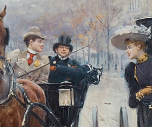 1890, carriage, and horse image