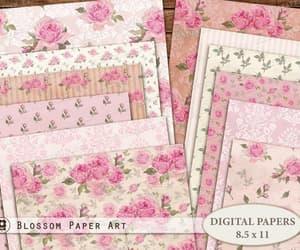 etsy, pink digital paper, and floral digital paper image