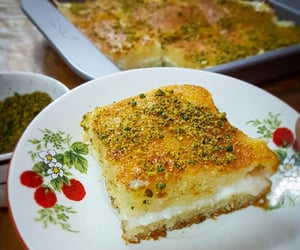 Basbousa with cream