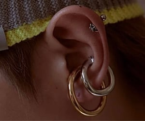 ear, earrings, and details image