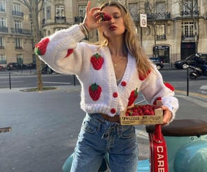 fashion, strawberry, and girl image