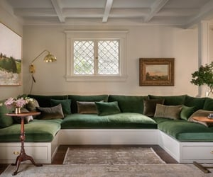 chill, living room, and green image
