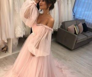 pink prom dress, evening dresses long, and vestido de fiesta image