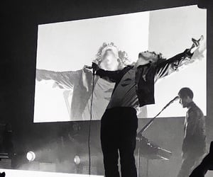 black and white, the 1975, and matty healy image