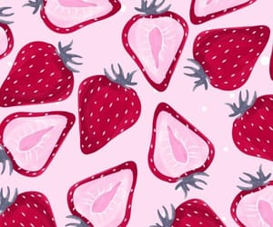 strawberry, pattern, and wallpaper image