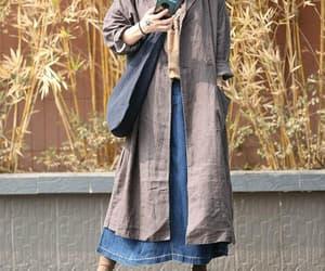 kaftan, women coat, and plus size clothing image