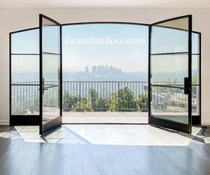 french doors, arched doorways, and iron french doors image