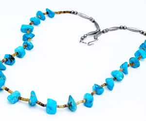 beaded necklace, native american, and boho necklace image