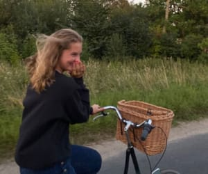 aesthetic, bike, and wind image