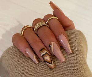 nails, heart, and Nude image