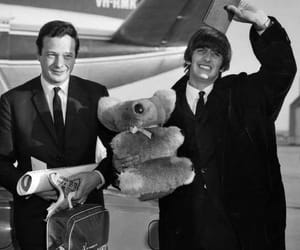 ringo starr, brian epstein, and the beatles image