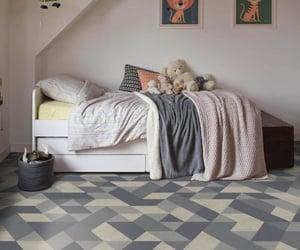 flooring, tile effect, and vinyl flooring image