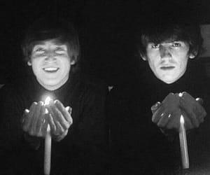 john lennon, the beatles, and george harrison image