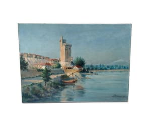 etsy, rhone river, and provence art image
