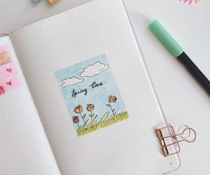 planning, bujo, and spring image