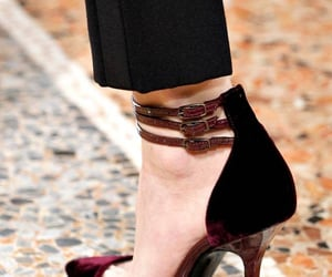 burgundy, shoes, and details image