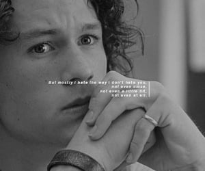 10 things i hate about you, black, and black and white image