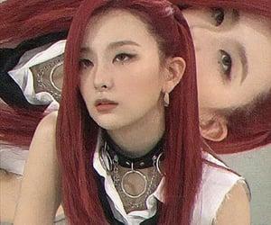 girl, Girl Crush, and red velvet image