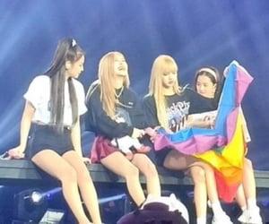 kpop, jisoo, and lgbt flag image