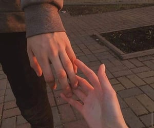 aesthetic, couple, and hold image