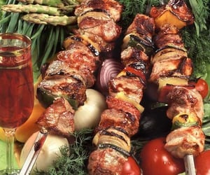food, sauce, and grilled meat image
