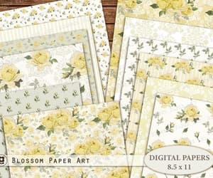 etsy, floral digital paper, and printable pages image