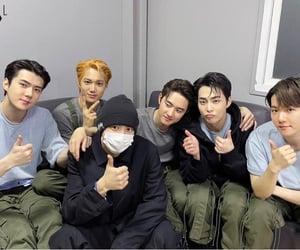 exo, lay, and xiumin image