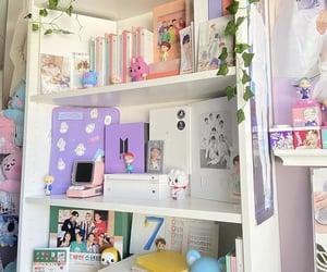 aesthetic, room, and shelf image