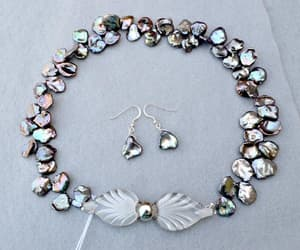 etsy, pearl necklace, and freshwater pearls image
