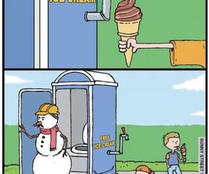 funny, meme, and snowman image