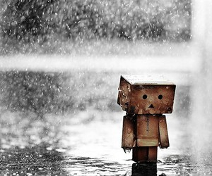 rain, sad, and danbo image