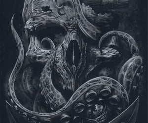 drawing, octopus, and sea image