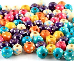 beads, wood beads, and etsy image