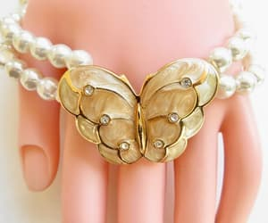 etsy, pearl choker, and butterfly necklace image