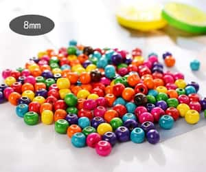 beads, wood beads, and crafts image