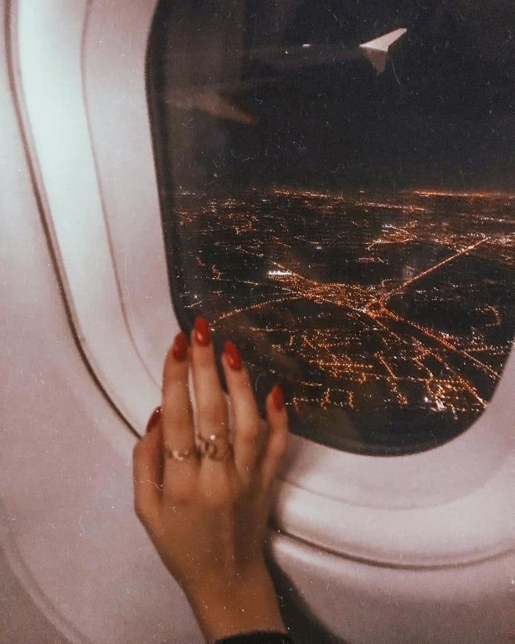 travel, nails, and night image