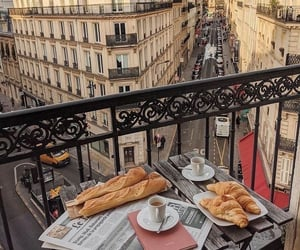 aesthetic, baguette, and breakfast image