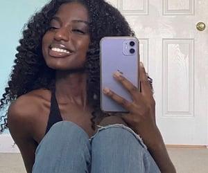 curls, melanin, and black girl image