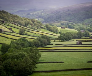barns, dales, and yorkshire image