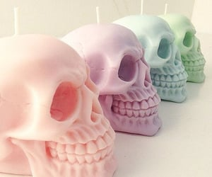 candle, skull, and aesthetic image