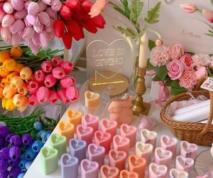 flowers, aesthetic, and candles image