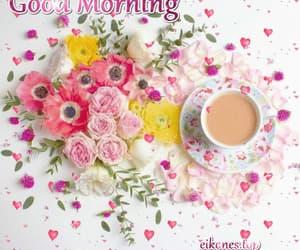 coffee, flowers, and gif image