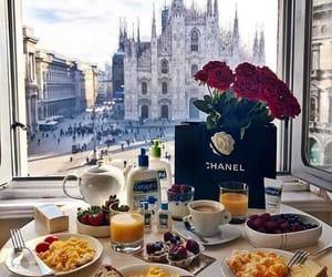 breakfast, chanel, and luxury image
