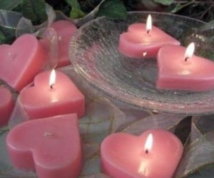 pink, candle, and aesthetic image