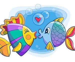 animal, fish, and valentine image