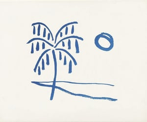 blue, drawing, and palm image
