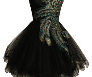 dress, black, and peacock image