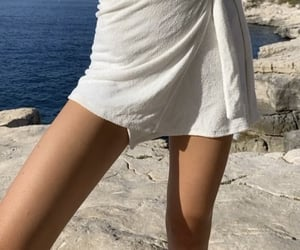 blue, cliff, and fashion image