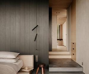 bedroom, interiors, and minimalism image