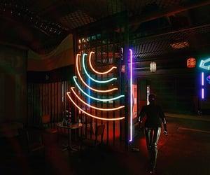 cyberpunk, dark, and fluorescent image